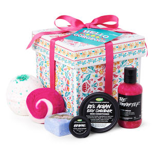 lush hello gorgeous gift